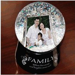 Family Digital Photo Snow Globe