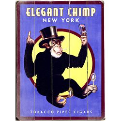 Antique Monkey Suit Personalized Sign