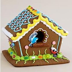 Spring Garden Gingerbread Bird House