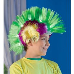 Neon Light-Up Crazy Hair Faux-Hawk Toy