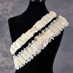 Vintage Lace Ivory Wedding Garter