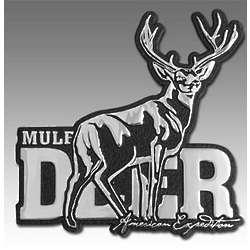 Mule Deer Metal Auto Emblem