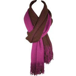 Womens Two Tone Reversible Scarf
