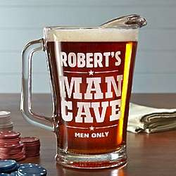 Personalized Man Cave Men Only Pitcher