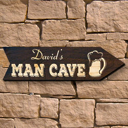 Personalized Show Me to the Man Cave Sign