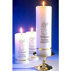 Personalized Deluxe Anniversary Candle Set