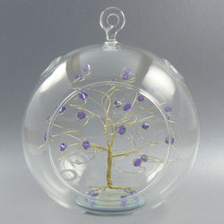 Crystal Tree Glass Ornament