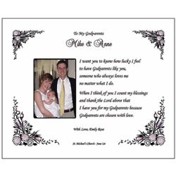 Godparent Personalized Poem Print