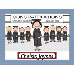 Personalized Graduation Class Cartoon Print