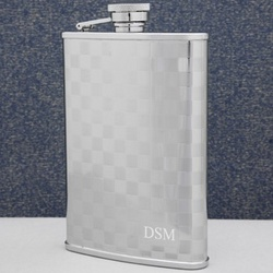 Checkerboard Personalized Flask