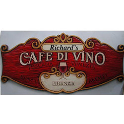 Personalized Cafe de Vino Sign