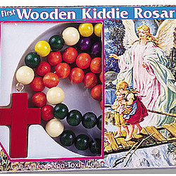 Wooden Kiddie Rosary Gift Box