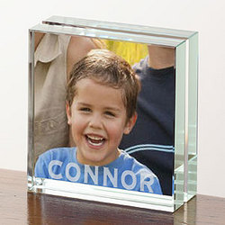 Personalized Photo Expressions Small Glass Block Frame