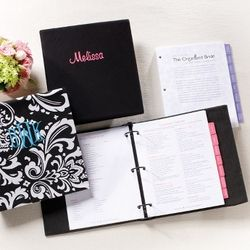 Organized Bride Planner with Invitation Handbook