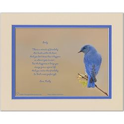 Personalized Family or Friend Poem Male Bluebird Print