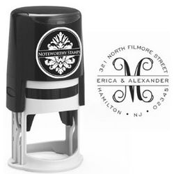 Banded Script Initial Self-Inking Stamper