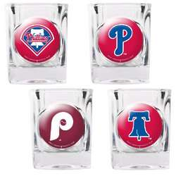 Philadelphia Phillies Square Shot Glass Set