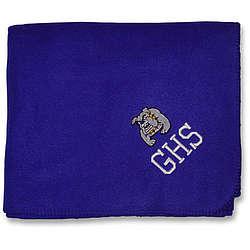 Monogrammed Fleece Stadium Blanket