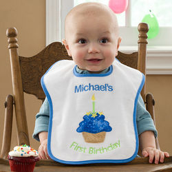 First Birthday Personalized Baby Bib for Boys