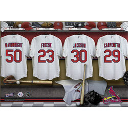 St. Louis Cardinals Personalized 16 x 24 Locker Room Canvas