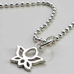 Sterling Silver Lotus Flower Anklet