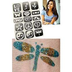 Temporary Glitter Tattoos for Teens