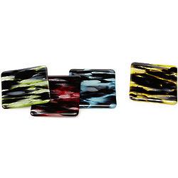 Smoky Glass Coasters Set