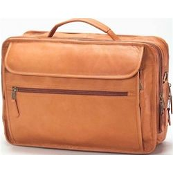 Extra Large Leather Laptop Briefcase