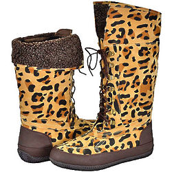 Women's Bamboo Duckie Leopard Print Boots