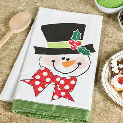 Holiday Snowman Kitchen Towel