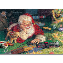 Santa's Model Train Workshop Jigsaw Puzzle