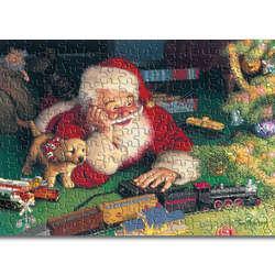 Santa's Model Train Workshop Jigsaw Puzzle