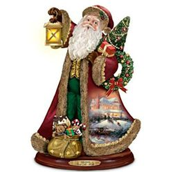 Thomas Kinkade Deck the Halls Santa Claus Sculpture