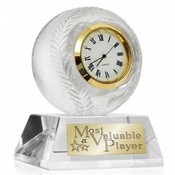 Crystal and Gold-Accented Golf Clock