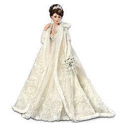 Touch of Elegance Porcelain Bride Doll