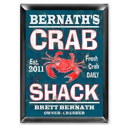 Personalized Crab Shack Pub and Bar Sign