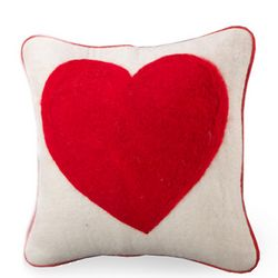 Small Wool Felt Heart Pillowcase