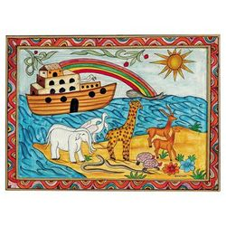 Noah's Ark Framed Wooden Painting
