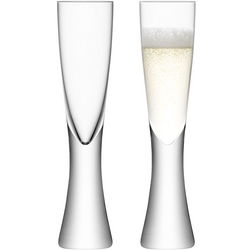 Elina Blown Glass Champagne Flutes