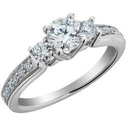 Canadian Ice 3-Stone Diamond 1.0 CTW Engagement Ring