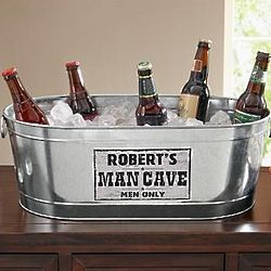 Personalized Man Cave Men Only Beverage Tub