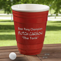 Personalized Big Red Party Cup Award