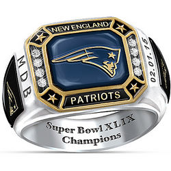 New England Patriots Super Bowl XLIX Champions Pride Ring
