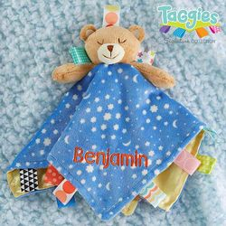 Personalized Taggies Teddy Bear Baby Lovey Toy