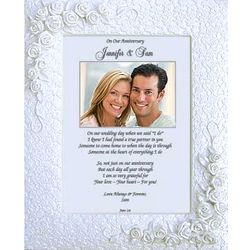 Personalized Framed Anniversary Poem to Husband or Wife