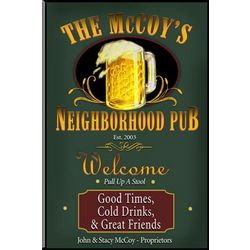 Personalized Pub/Tavern Sign