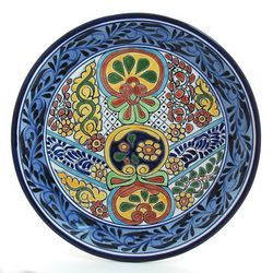 "Mexican Talavera 15"" Decorative Platter"