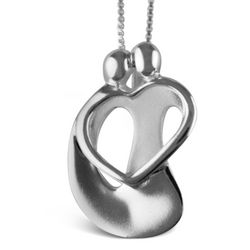Loving Couple Small Pendant Necklace