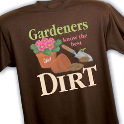 Personalized Gardeners Know Best T-Shirt
