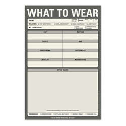 What to Wear Note Pad